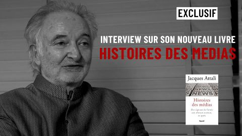 """Interview de Jacques Attali sur son nouveau livre """"Histoires des médias"""""""